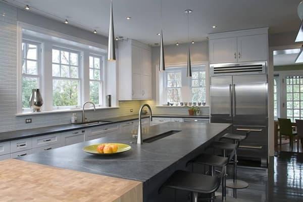 pedra preta moderna na cozinha