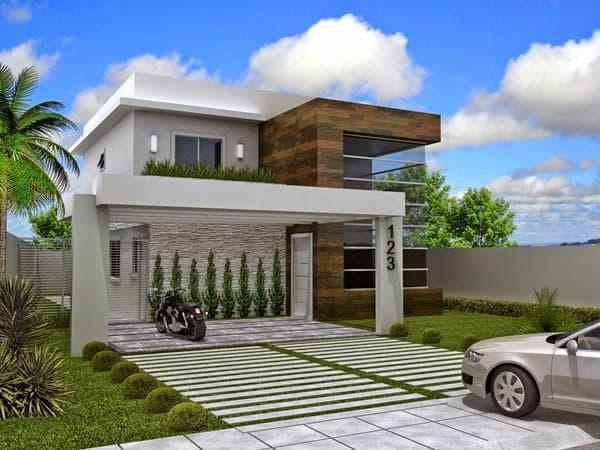 Modelos de porcelanatos para fachada de casas fotos de for Fachadas de casas para segunda planta