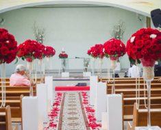 Decoração de Igreja Evangélica com rosas