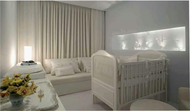 cortina para quarto de bebe nude