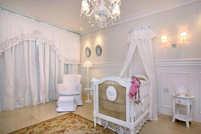 cortina para quarto de bebe provencal