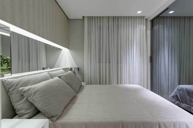cortina quarto de casal minimalista