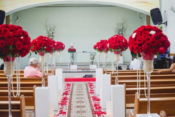flores para decoração de igreja evangélica